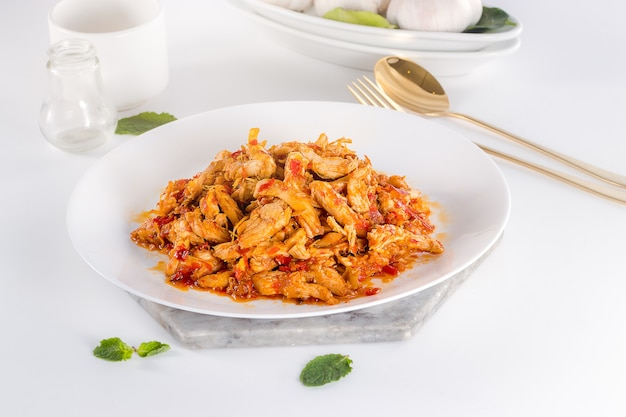 Heerlijk en gezond indonesisch eten ayam suwir