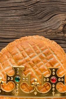 Heerlijk epiphany-taartdessert Premium Foto