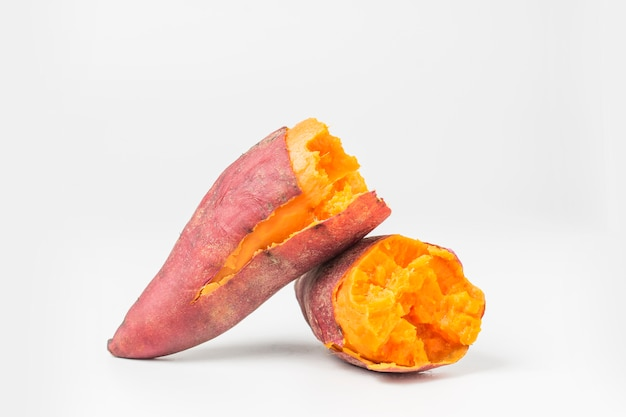 Heerlijk gekookt zoete aardappel