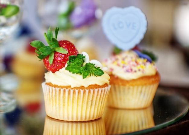 Heerlijke braadpan met aardbeien.