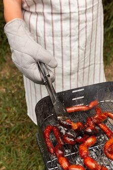 Heerlijke chorizoworst op de grill Gratis Foto