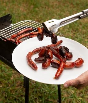 Heerlijke chorizoworst op de grill