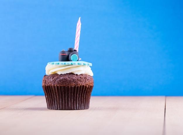 Heerlijke cupcake op tafel