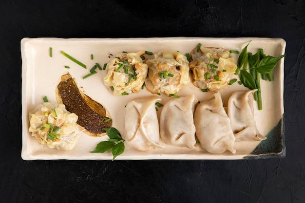 Heerlijke dumplings conceptregeling