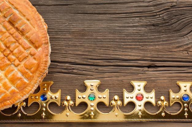 Heerlijke epiphany pie dessert kopie ruimte