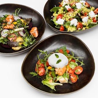 Heerlijke gezonde salades close-up