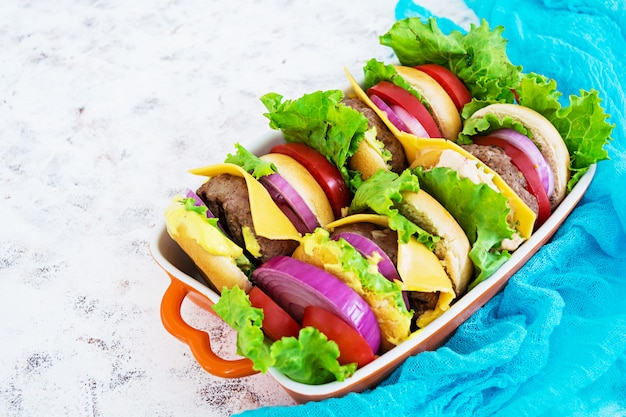Heerlijke handgemaakte hamburger