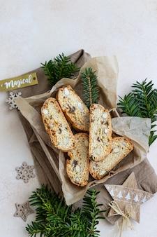 Heerlijke italiaanse biscotti in geschenkverpakking.