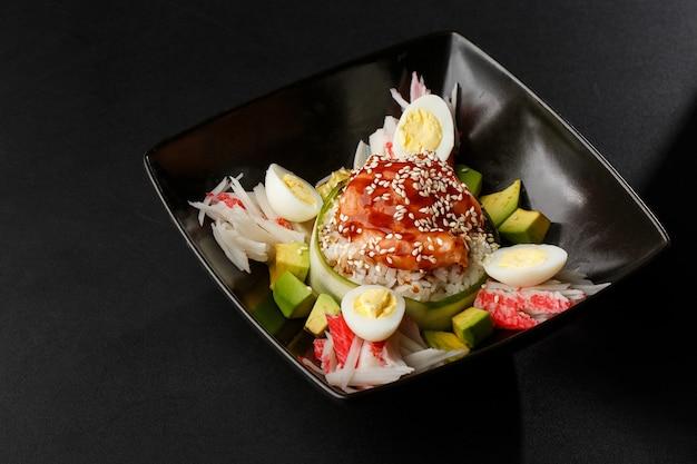 Heerlijke kiprijst. aziatische stijl hainan kip rijst close-up.