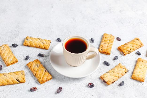 Heerlijke koekjes met rozijnen