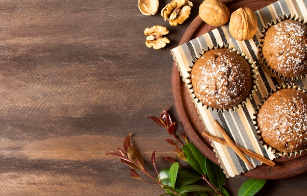 Heerlijke muffins gevuld met noten