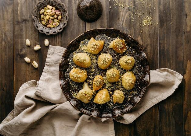 Heerlijke pakistaanse maaltijd boven weergave