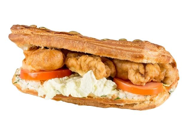 Heerlijke panini geïsoleerd op een wit oppervlak.
