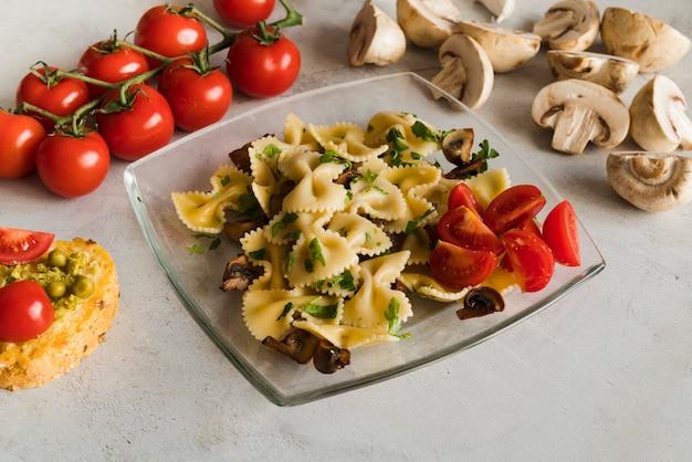 Heerlijke pastagerecht met groenten