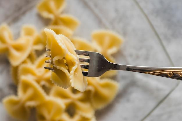 Heerlijke pastagerecht met vork