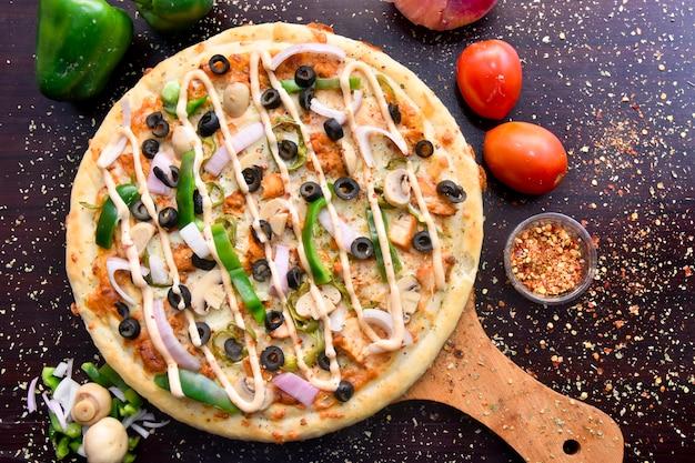Heerlijke pizza top shot