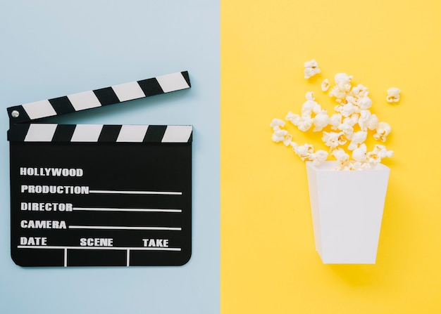 Heerlijke popcorn met filmklapper
