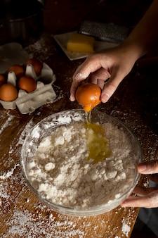 Heerlijke samenstelling voor het maken van kaasbrood
