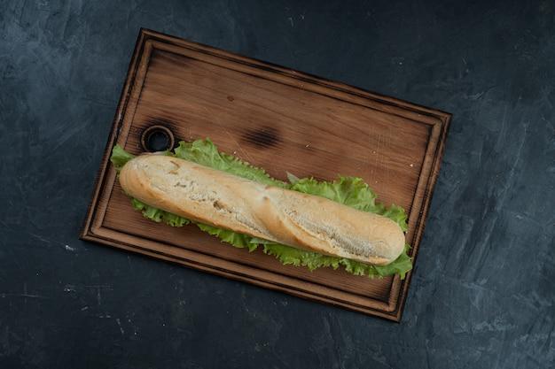 Heerlijke sandwich met ham en groenten