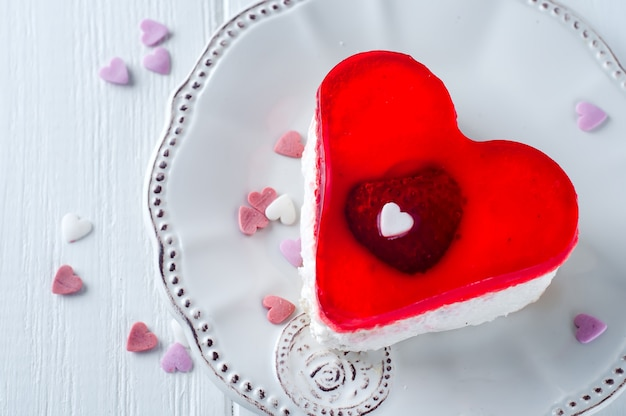 Heerlijke taart voor valentijnsdag
