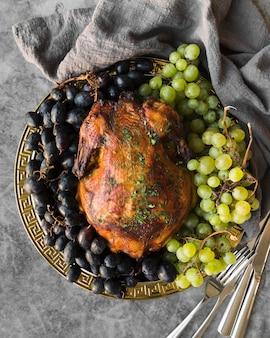 Heerlijke thanksgiving-maaltijd boven weergave