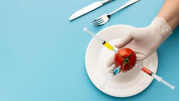 Heerlijke tomaten ggo gewijzigd voedsel