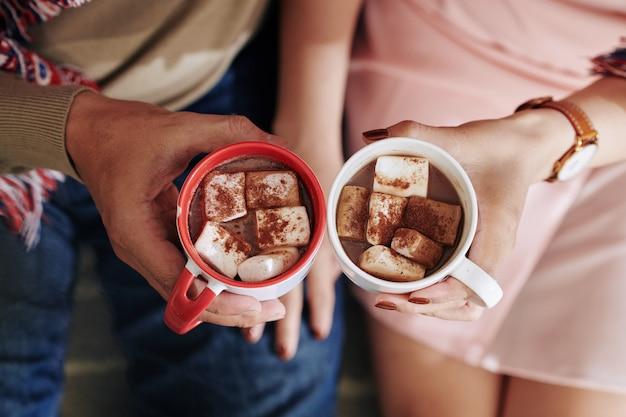 Heerlijke warme chocolademelk