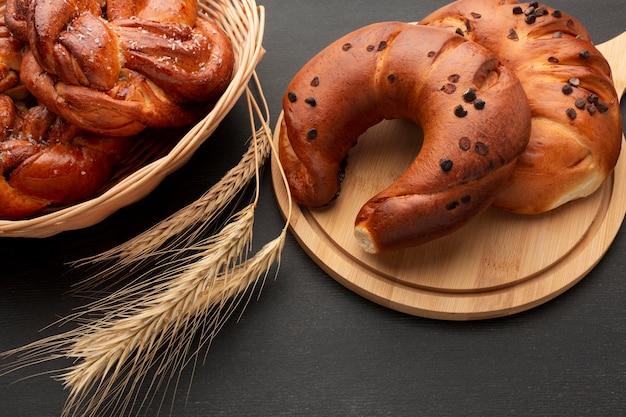Heerlijke zelfgemaakte bagels close-up