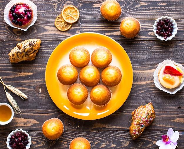 Heerlijke zelfgemaakte muffins met yoghurt