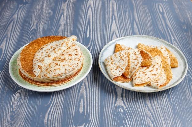Heerlijke zelfgemaakte pannenkoeken.