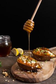 Heerlijke zoete aardappelen met honing