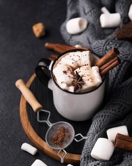 Heet marshmallow-drankje