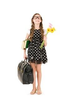 Helder beeld van het meisje van de basisschoolstudent