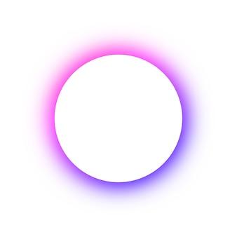 Helder gekleurd patroon rond gloeiende verschillende kleuren van de neonknopen, de ruimte voor de tekst. sjabloonontwerp voor reclame