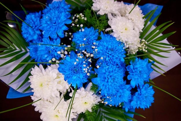 Helder kleurrijk boeket van bloemenclose-up.