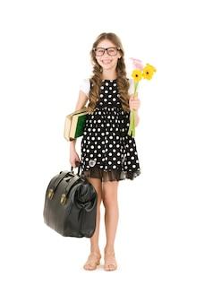 Heldere foto van basisschool student meisje