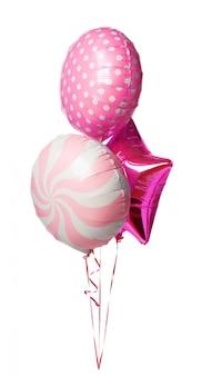 Heldere kleurrijke ballonnen geïsoleerd op een witte achtergrond