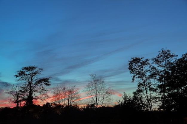 Heldere kleurrijke zonsondergang de zee met prachtige wolken