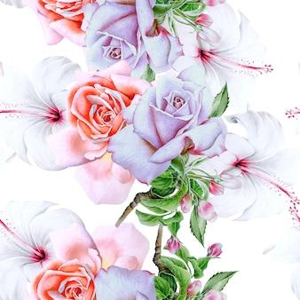 Heldere naadloze patroon met bloemen
