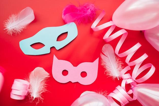 Heldere regeling van maskers en linten