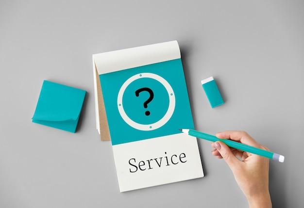 Help klantenservice serviceconcept