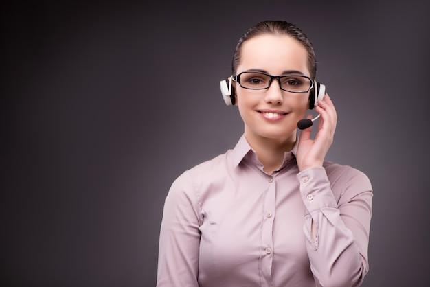 Helpdeskmedewerker in communicatieconcept