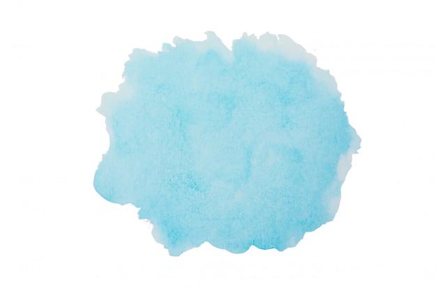 Hemel blauwe aquarel achtergrond. de slagvorm van de borstel die op wit met het knippen van weg wordt geïsoleerd