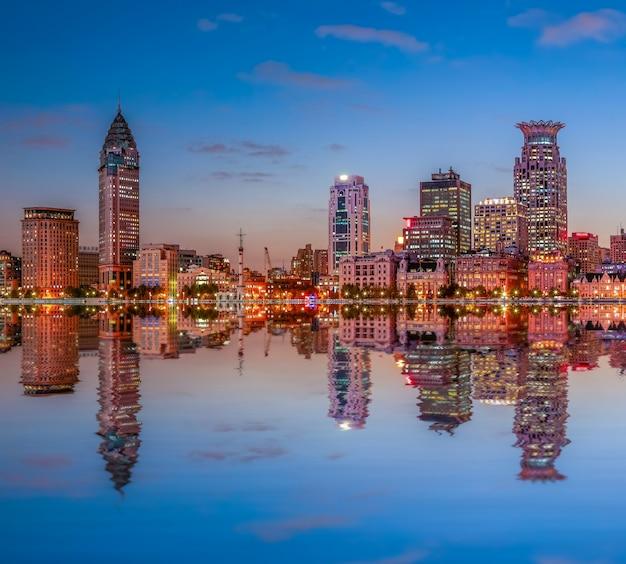 Hemel china cityscape vakantie toerisme waterkant