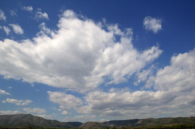 Hemel in blauw met wolkendag