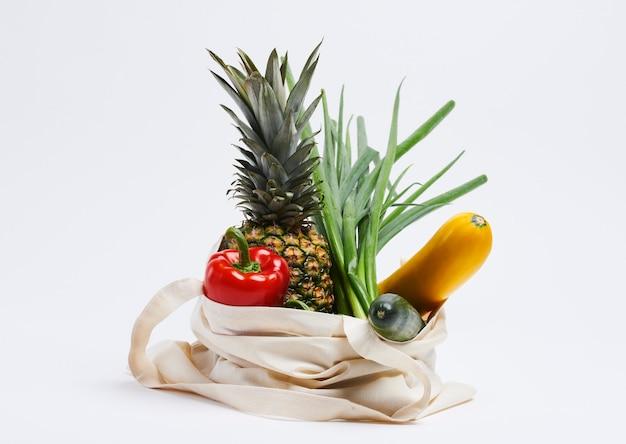 Herbruikbare zak eco groente en fruit