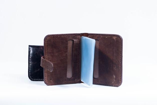 Heren portemonnee handgemaakt bruin leer