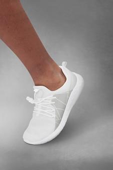 Herenmode gebroken witte sneakers
