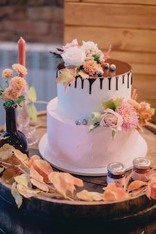 Herfst bruiloft zoete bar, close-up