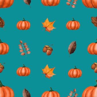 Herfst groenten en elementen patroon